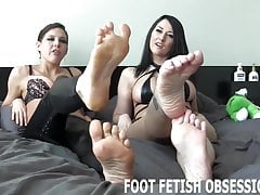 You can judge which one of us has the sexiest feet