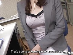 Japanese Office Woman, Noeru Mitsushima Got Spunk In Mouth, Unc