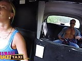 Female Fake Taxi Horny slim blonde driver