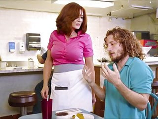 Tits Milf Redhead video: XXXJoX Andy James Milf Waitress