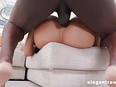 Hardcore sex analny z BBC i busty horny French Maid