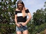 SBB teen pissing outdoor