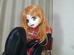 Latex Kigurumi, Vibrating.