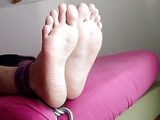 Feet whipped on bed falaka bastinado foot torture