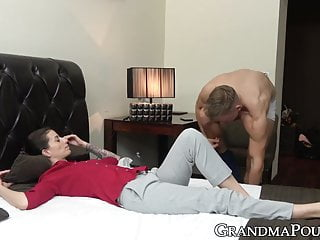 Massage Blowjob Big Cock video: Mature beauty passionately sucking sweet young cock