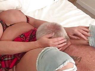 British Stockings Big Tits video: LINDA IN A TARTAN SKIRT