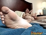 Young twink Chad Turner strokes his big fat dick