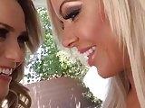 Mia Malkova BTS on set with the sexy Nina Elle