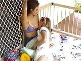 felicity and lola breast feeding