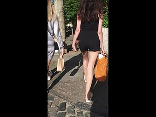 Babes Foot Fetish Skinny video: Teen Feet in Flip Flops with Tight Ass