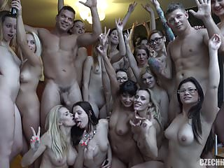Group Sex Czech Orgy video: Huge Czech Harem GangBang