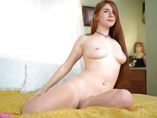 Amateur Redheads Webcams video: Sexy Redhead Striptease and Blowjob, Long Hair, Hair