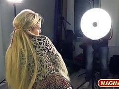 Niemiecki casting dla blondynki Milf