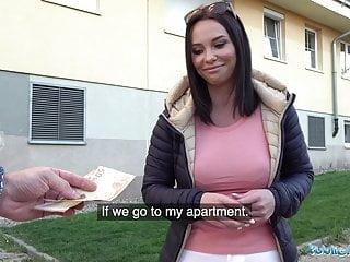 Pov Blowjob Brunette video: Public Agent Alysa Gaps Russian Pussy Takes a Pounding