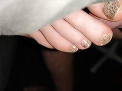 Cumming auf Freundin Füße, Fußfetisch sexy Füße