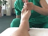 Foot massage with ball out