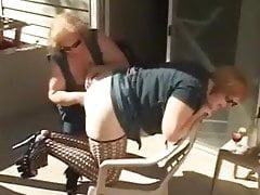 Lesbian grannies having fun. Amateur older