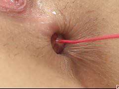 Schmutziges und sexhungriges Baby gefingert und Dildo gestreichelt