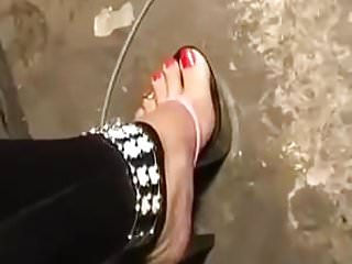 Hidden Cams Foot Fetish High Heels video: THONG SANDAL