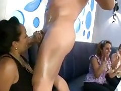 Hot Ebony Girls Get Turned By The Stripper