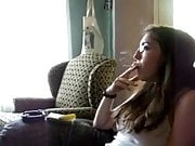 Elizabeth Douglas age 18 learning to smoke Virginia Slims