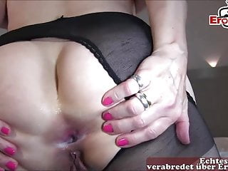 German Amateur Milf video: Hot german mature housewife anal with big cock bbc private