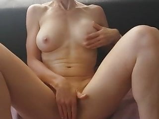 French Wife Creampie video: sofa