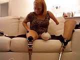 candy putting legs on