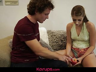 Teens Hardcore Balls video: Karups - Alyce Anderson Juggles Step Bros Balls