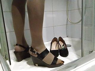 High Heels Pantyhose Nylon video: shoes pissing 22