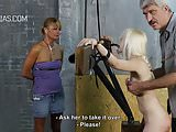 Blonde slave in BDSM action