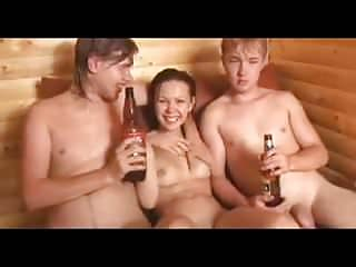 Russian Babes Facials video: Amateur - Cutie Russian Teen MMF Threesome