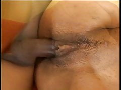 Tall tiny titted Latina does anal and takes a load on her chest