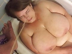 SK1 Pissing On Russian Prostitute  Big Tit Milf In Bathroom