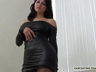 Bdsm Femdom Pov video: I want you to eat all your cum CEI