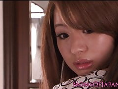 Japanese MILF licks and fingers babes hairy pussy