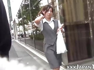 Public Nudity Asian Voyeur video: Japanese women in high heels are a subject of sharking