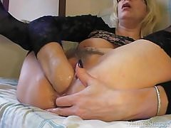 Blonde vaginal fisting