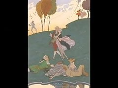 Erotische Kunst von Georges Barbier 5 - Galant Feste