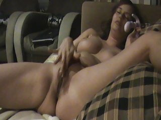 German Teen Big Tits video: Young Ex Cumming with Dildo in Asshole