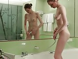 Vialika golden shower and masturbation with deep solo anal