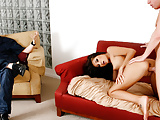Skinny Brunette Wife AJ Estrada Cuckolds Her Loser Hubby