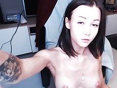 Super Cute Latvian Cam Girl Sucks Toy on Cam