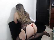 Big Ass Latina Bends Over