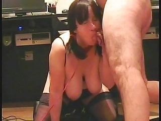 British Blowjob Milf video: Pigtailed wife Sue sucks cock