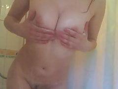Fantastico culo doccia insaponato