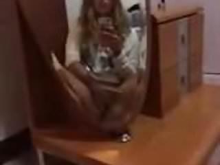 Amateur Masturbation Homemade video: Teen fingering in front of mirror