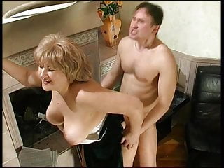 Russian Milf porno: Mature woman and guy - 57