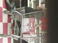 Grasso bottino bianco in negozio
