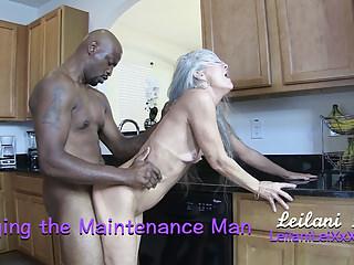 Amateur Interracial Hardcore video: Banging the Maintenance Man TRAILER